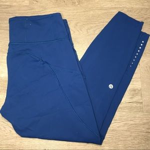 Blue Lululemon leggings